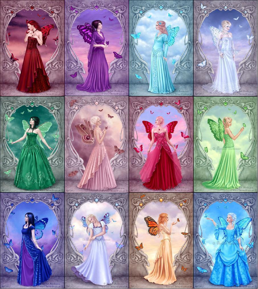 Fairies Fantasy, Magic, Zodiac Art, Birthstone Fairies, Rachel ...