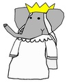 Celeste - Wedding Outfit - babar-the-elephant fan art