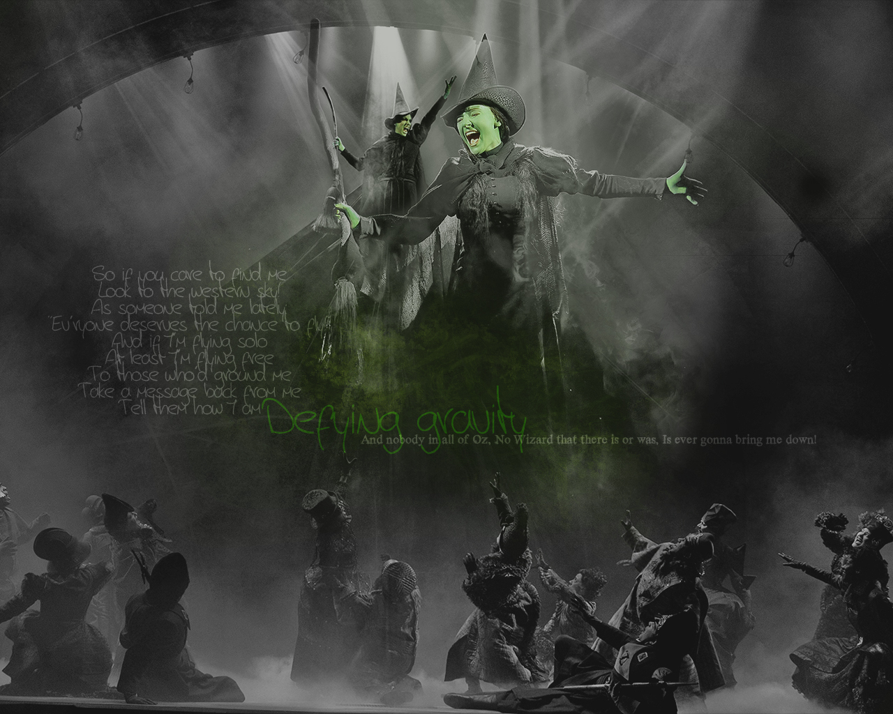 defying gravity wicked wallpaper 10600859 fanpop