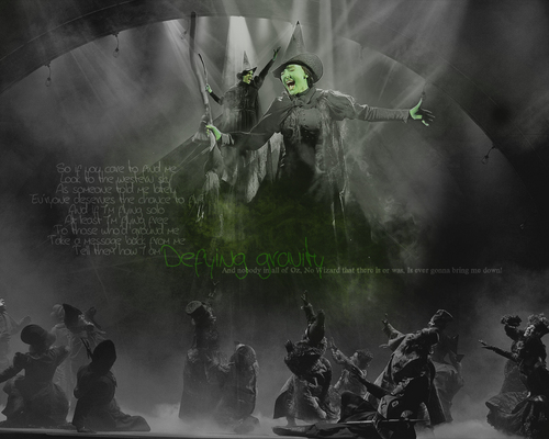 Wicked wallpaper titled Defying gravity