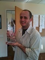 Eric Kripke poses with People's Choice Award