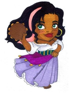 Esmeralda with Her Tambourine