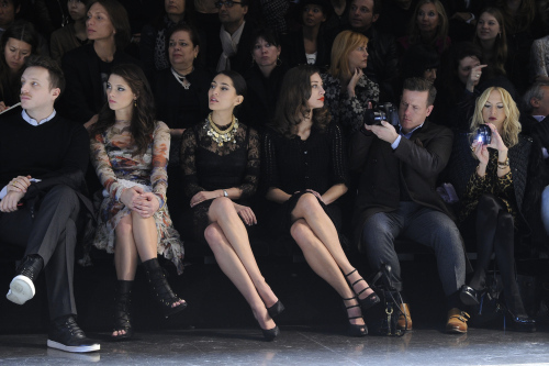 4a47cfa008 Front Row for Dolce & Gabbana during Milan Fashion Week - Ashley ...