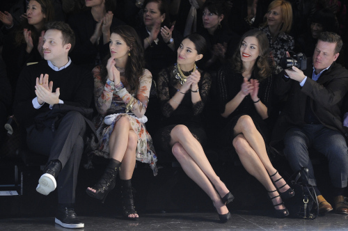 Front Row for Dolce & Gabbana during Milan Fashion Week