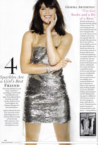 Gemma Arterton wallpaper titled Glamour USA - March 2010
