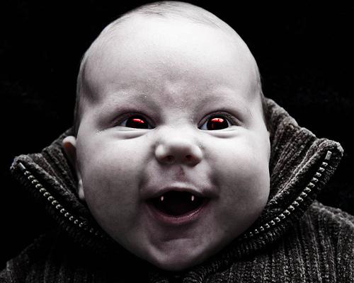 Half-Vampire Baby!