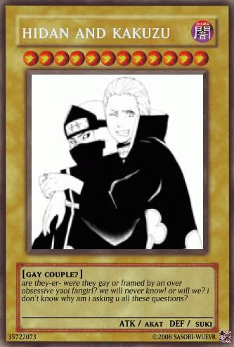 Kakuzu and Hidan Card