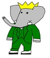 King Babar - Grown-Up - babar-the-elephant fan art