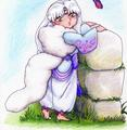 Little Sesshomaru-sama and mariposa