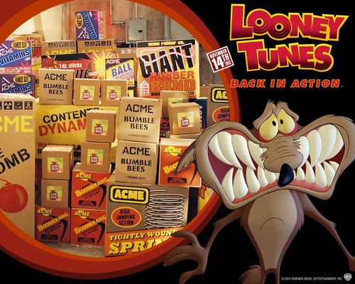 映画 壁紙 entitled Looney Tunes: Back in Action