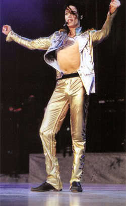 MJ Gold Pants Sexy Bare Chest