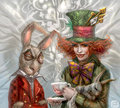 March liebre and Mad Hatter:best friends!