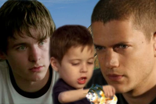 Michael Scofield with his son MJ and nephew LJ
