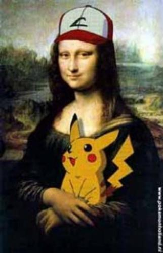 Mona lisa and pikachu - fine-art Photo