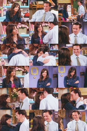 Monica and Chandler wallpaper entitled Mondler best moments picspam<3