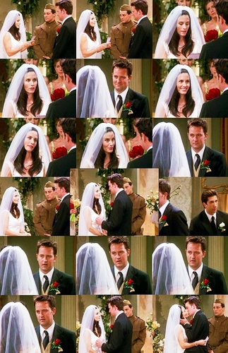 Monica and Chandler wallpaper titled Mondler best moments picspam<3