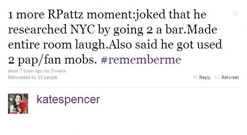 もっと見る Tweets About The Remember Me Press Junket with Robert Pattinson