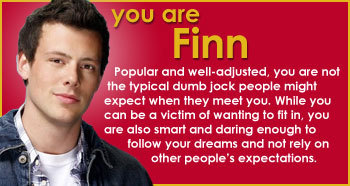 My Glee Character Quiz result...