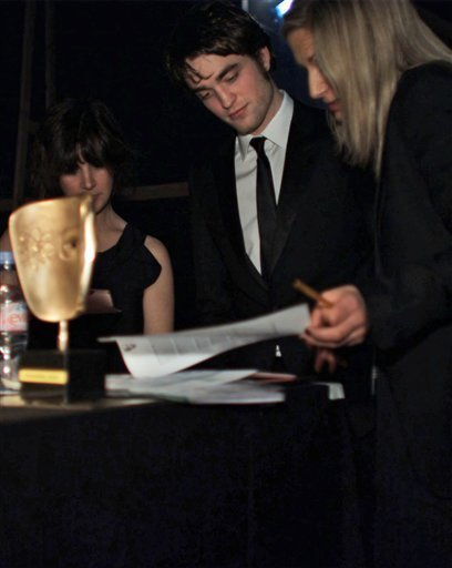 New pictures from backstage at the Baftas