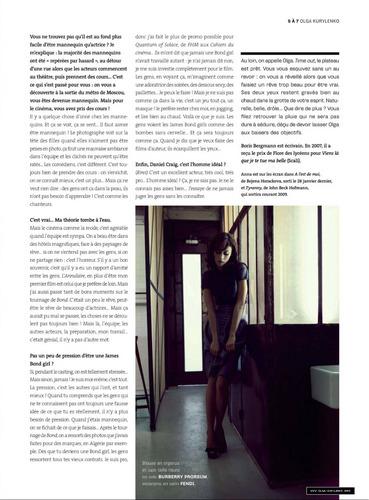 Olga Kurylenko | L'Optimum Magazine Scans (March 2009)