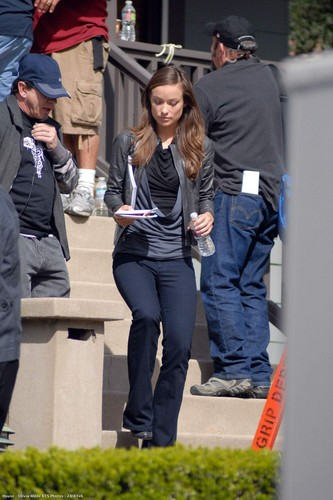 House M.D. wallpaper titled Olivia Wilde BTS Photos - 23rd Feb