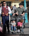 Patrick Dempsey and Family at Disney Land