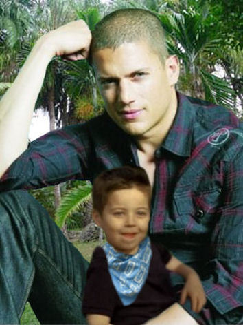 Prison Break - Michael Scofield with his little son MJ