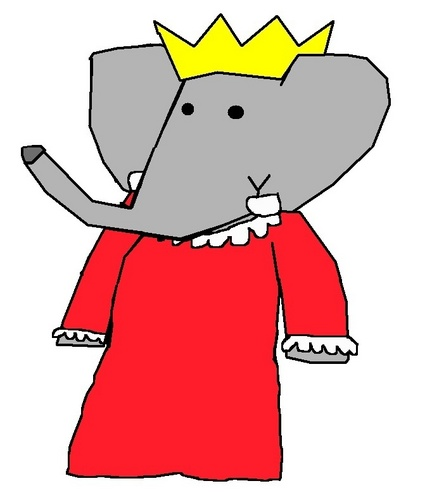 Queen Celeste - Grown-Up - babar-the-elephant Fan Art