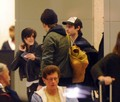 Rob, Kristen and Tomstu arriving in NY  - twilight-series photo