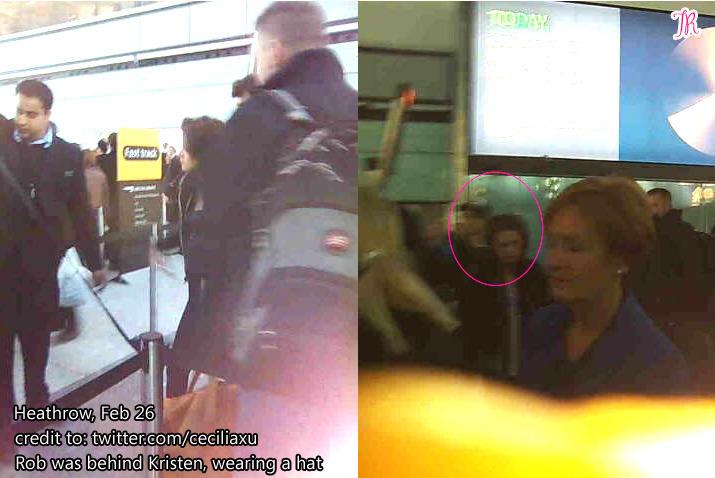 Robert Pattinson & Kristen Stewart At The Airport