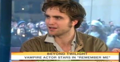 Robert Pattinson Today Show (March 1)