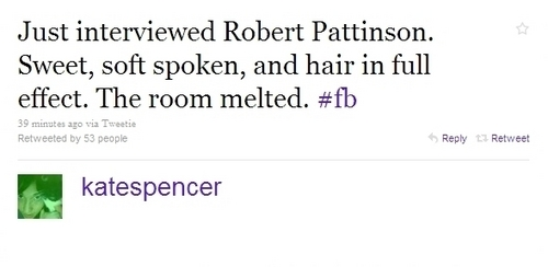 "Robert Pattinson - Tweets from the ""Remember Me"" Press Junket"