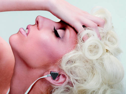Sexy Lady Gaga karatasi la kupamba ukuta