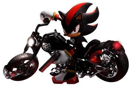 Shadow The Hedgehog wallpaper titled Shadow on a motorcycle