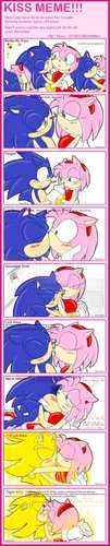 Sonamy Kiss Meme - sonic-and-amy Photo