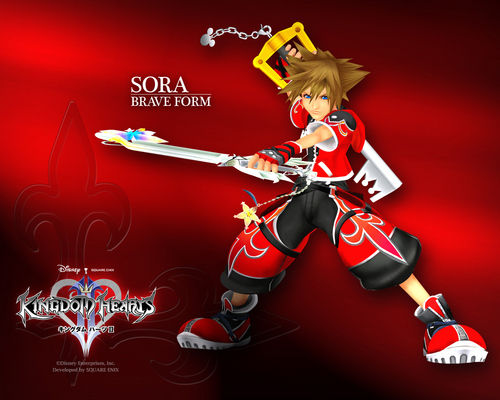 Kingdom Hearts 2 wallpaper entitled Sora's Forms