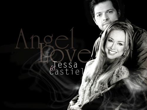 Castiel wallpaper called Tessa and Castiel