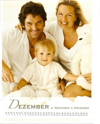 Thomas Anders achtergrond titled Thomas Anders & Family (calendar scans)