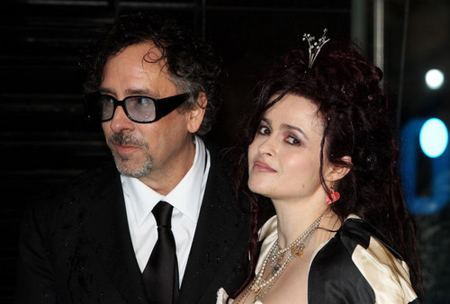 Tim Burton, With Helena Bonham Carter, @ the Royal Premiere of 'Alice In Wonderland'