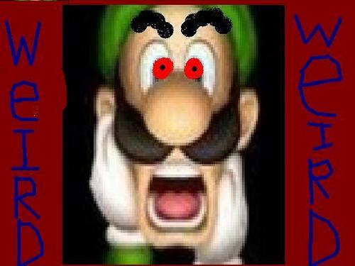 Weird luigi - luigi Fan Art