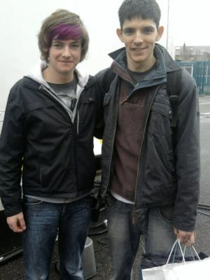 Colin Morgan wallpaper entitled a set picture from Parked