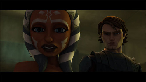 anakin and ahsoka stop to stare at old sick man in lightsaber Lost