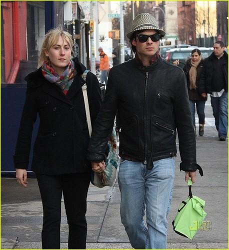 ian somerhalder+Meghan Auld- Sunday afternoon (February 28) in New York City