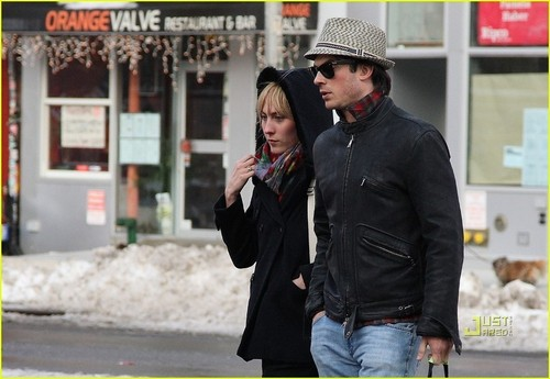ian somerhalder+Meghan Auld- Sunday afternoon (February 28) in New York City