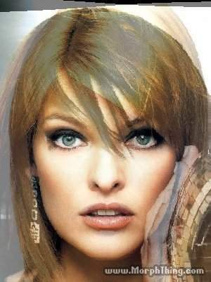 jovovich and evangelista morphing
