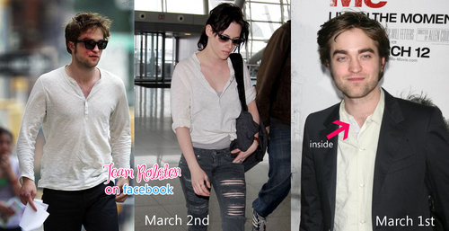 kristen wearing Robert's shirt.......