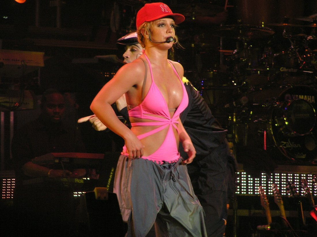 on stage