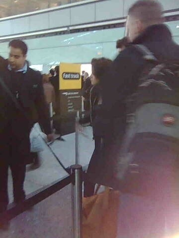 picture of Kristen at Heathrow today