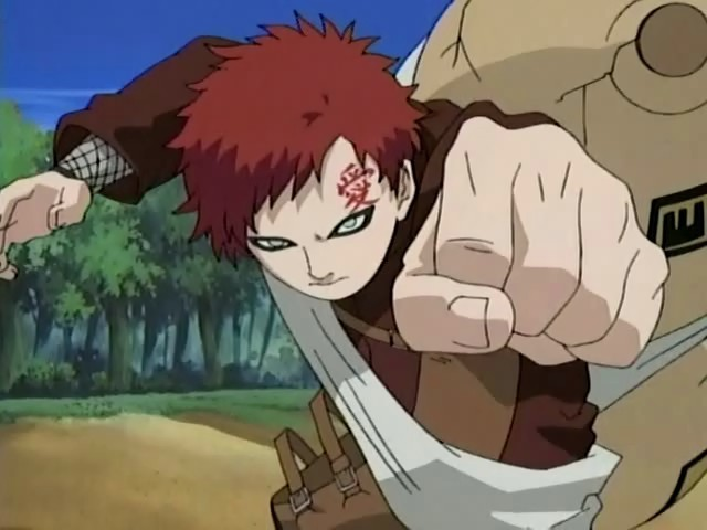 screencaps naruto - Gaara of Suna Image (10693101) - Fanpop Gaara And Rock Lee Vs Kimimaro