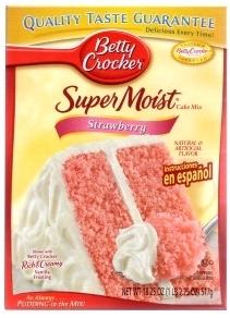 stroberi cake mix